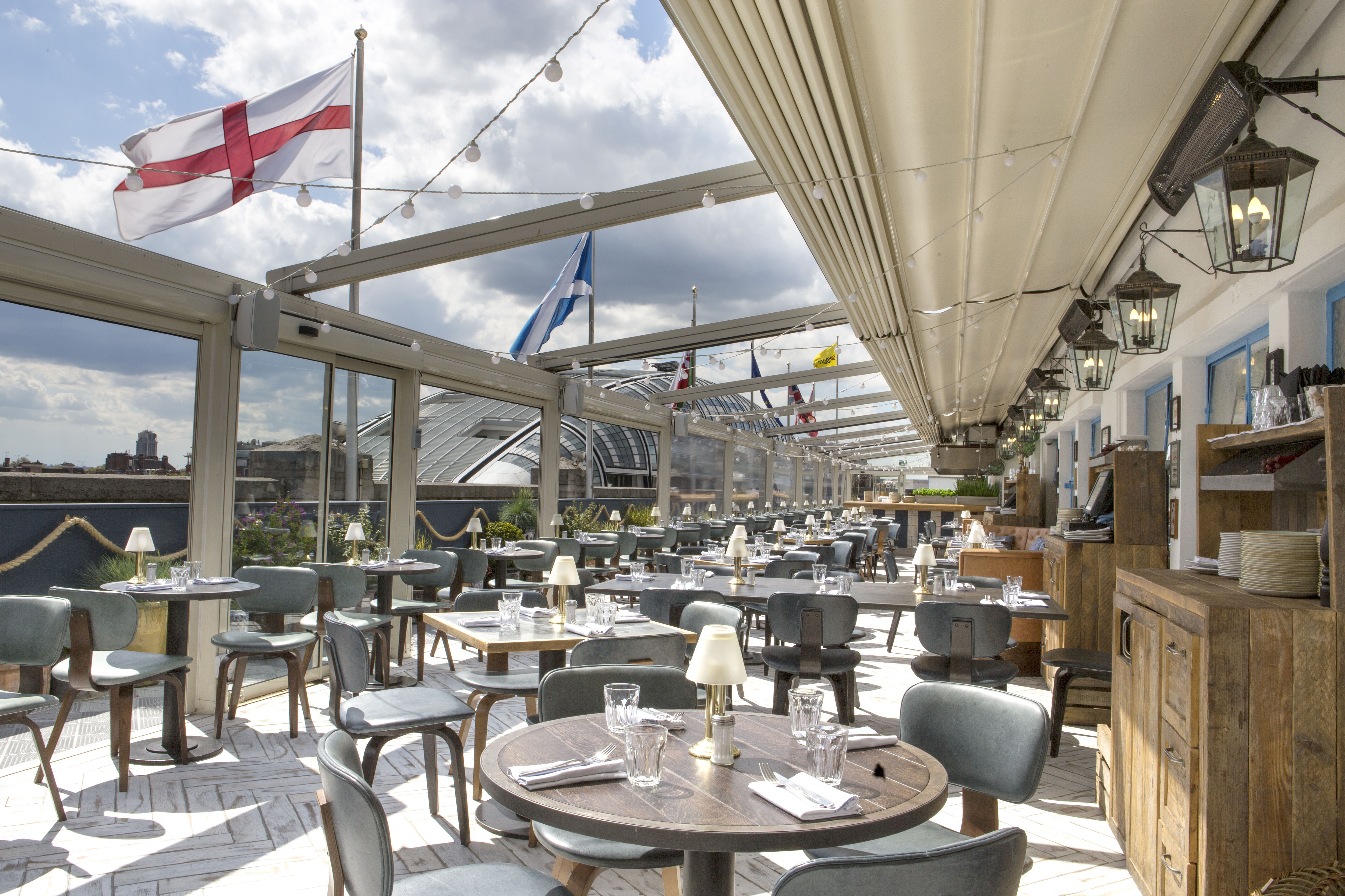 On the roof with vintage salt at selfridges now open for The terrace restaurant